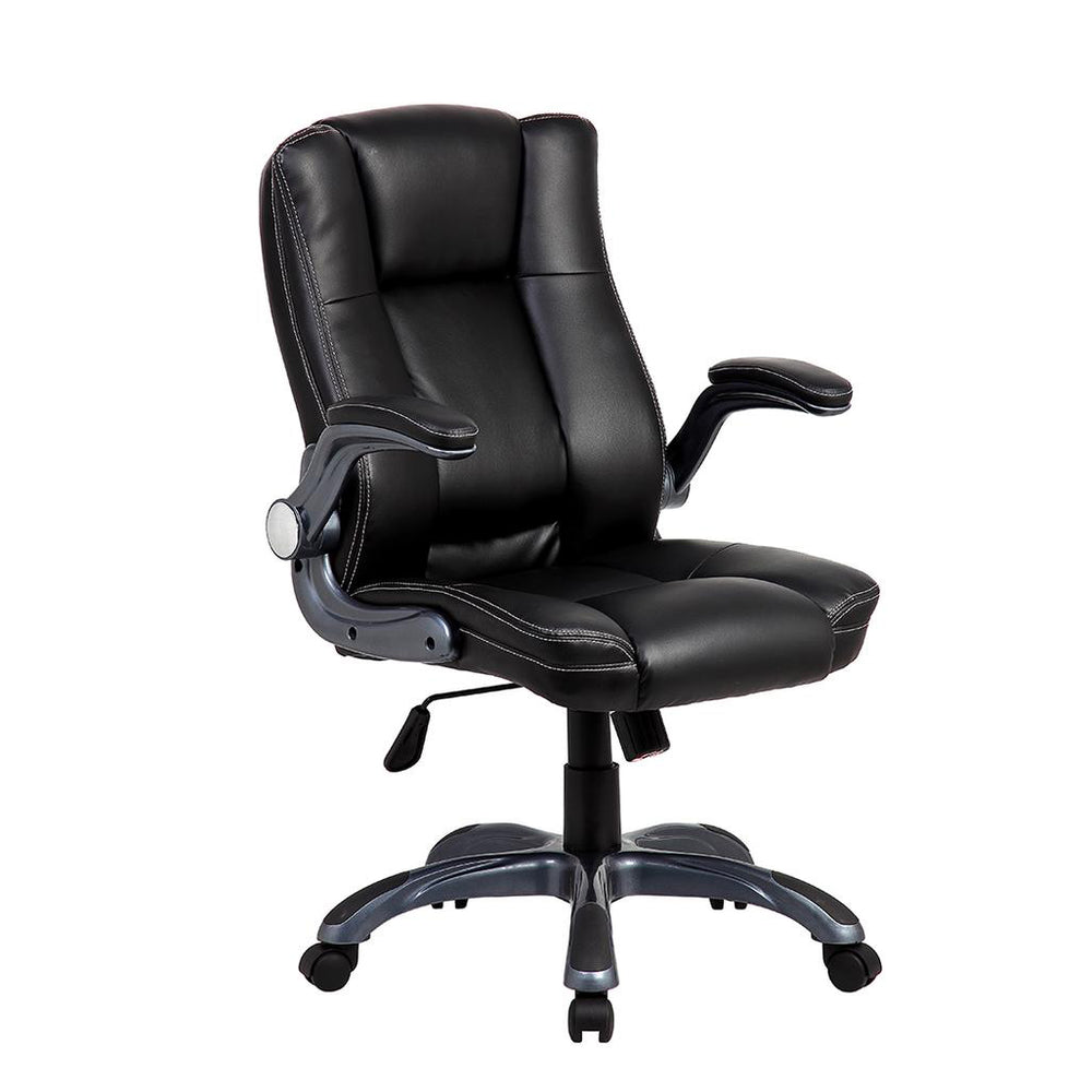Office Express Adjustable Medium Back Manager Office Chair - Black