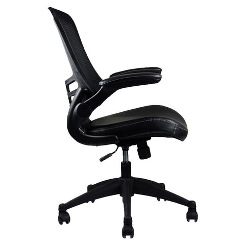 Mid-Back Deluxe Mesh Office Task Chair - Black