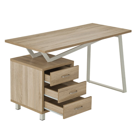 Modern Designs Interchangeable Computer Desk with Storage - Sand