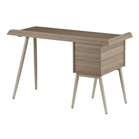 Urban Designs Wood Patterns Laminated Computer Desk with Drawers