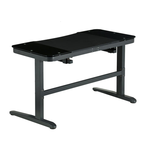 Urban Designs Top Performer Pneumatic Adjustable Sit to Stand Desk - Black