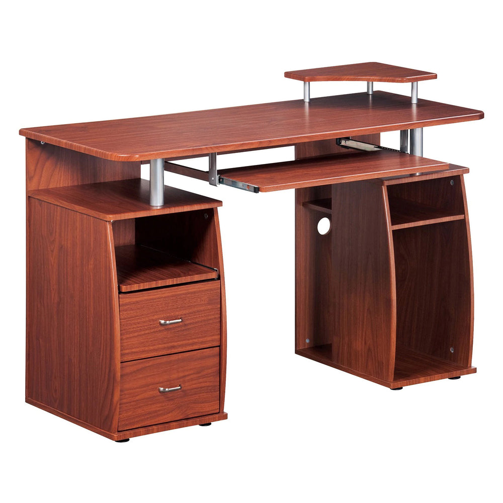 Urban Designs Executive Style Computer Desk - Mahogany