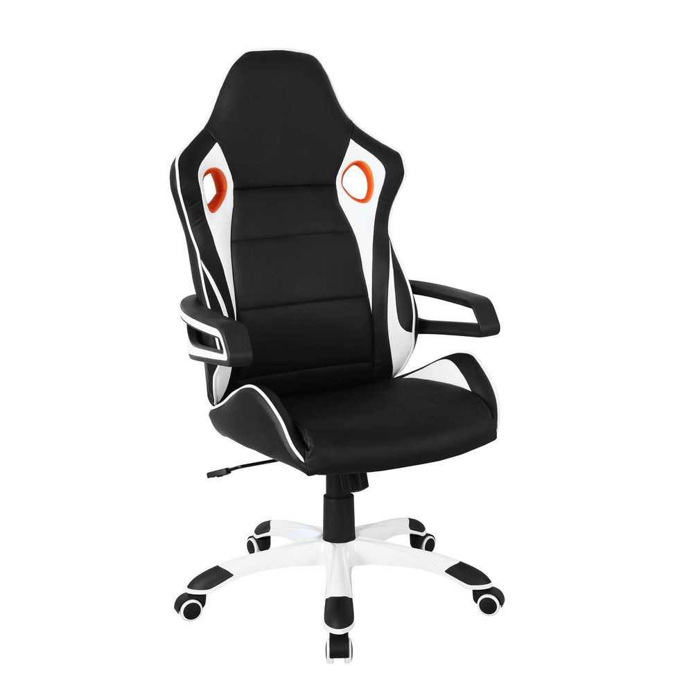 Urban Designs Black and White Racing Style Home Office Chair