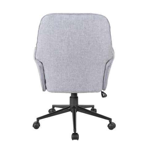 Urban Designs Modern Upholstered Tufted Office Chair - Grey