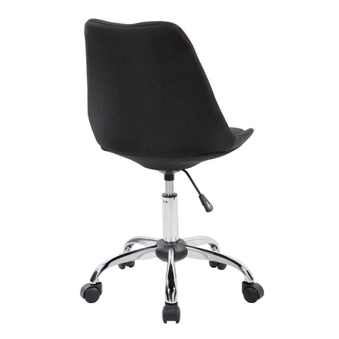 Modern Designs Armless Task Chair with Buttons - Black