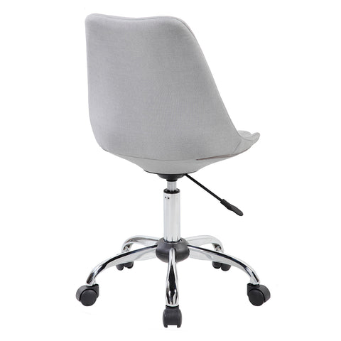 Modern Designs Armless Task Chair with Buttons - Grey