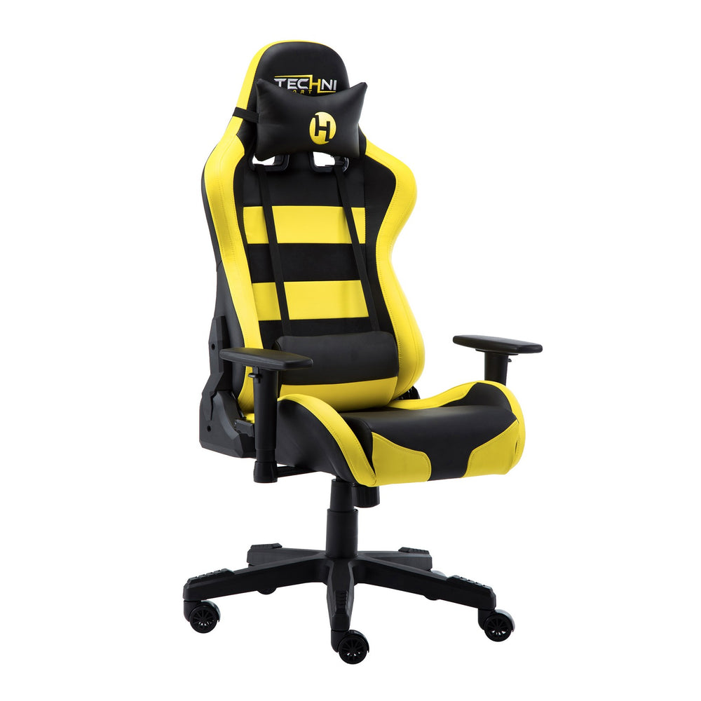 Urban Designs Black Yellow Combination High Racer Style Office - PC Gaming Chair