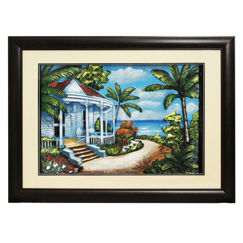 Urban Designs 2-Piece 3-D Set Artisan Wall Art - Tropical Beach House
