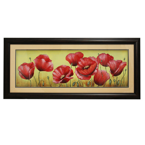 Urban Designs 2-Piece Set Artisan Wall Art - Red Poppy Field