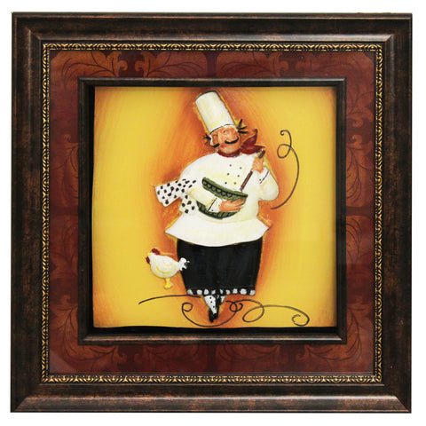Urban Designs Handcrafted 4-Piece 3-D Set Artisan Metal Wall Art - The Chef