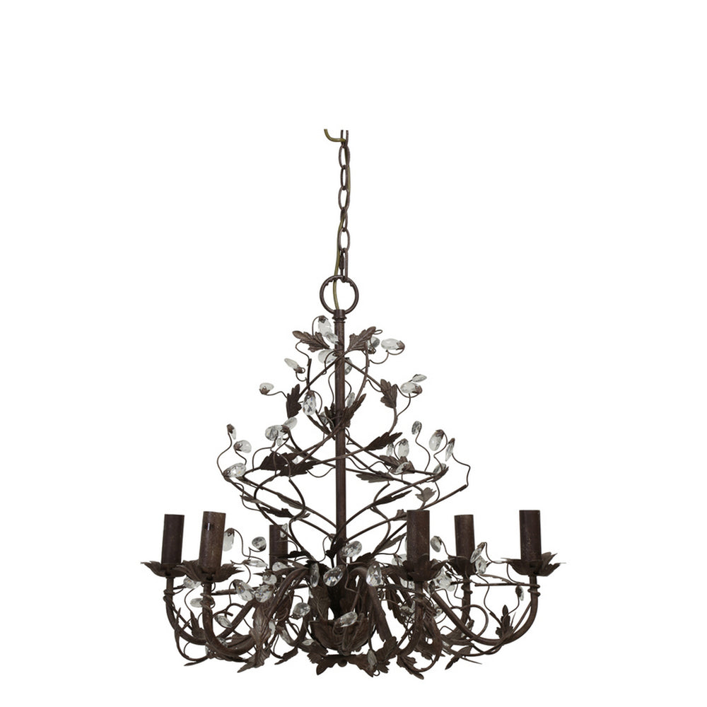 "Light and Living Evita 23"" Chandelier Rust 6-Light"