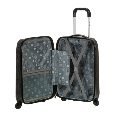 Rockland Vision Light Hardside Spinner Carry-On Luggage - Crocodile