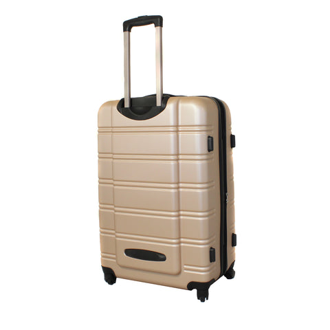 Rockland Melbourne 3-Piece Hardside 360-Degree Spinner Luggage Set - Champagne