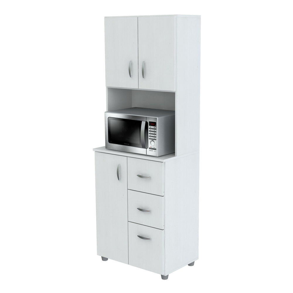 Inval Kitchen Storage Cabinet - Laricina White
