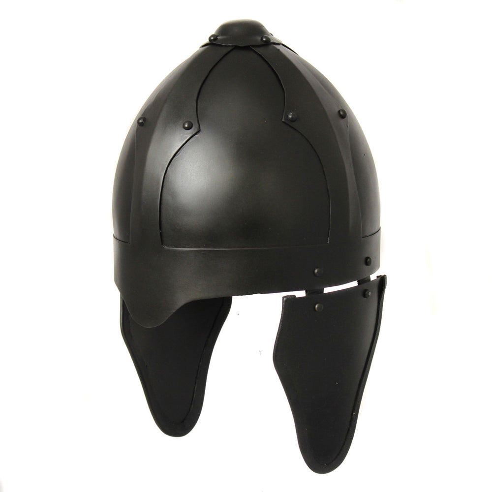 Urban Designs Antique Replica Medieval Skull Cap Infantry Steel Armor Helmet - Black