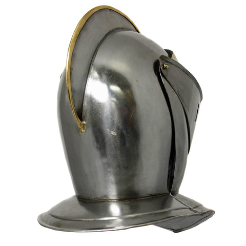 Urban Designs Antique Replica Medieval Early Renaissance Armored Gilded Knight Close Helmet