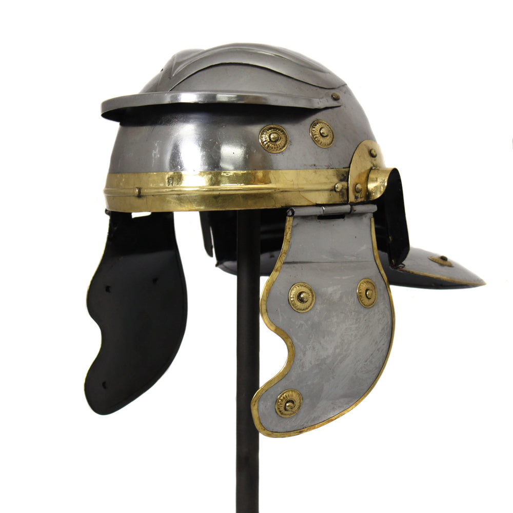 Urban Designs Antique Replica Roman Guard Galea Helmet - Silver & Gold