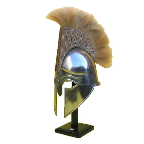Urban Designs Antique Replica Spartan Tan Plume Armor Helmet