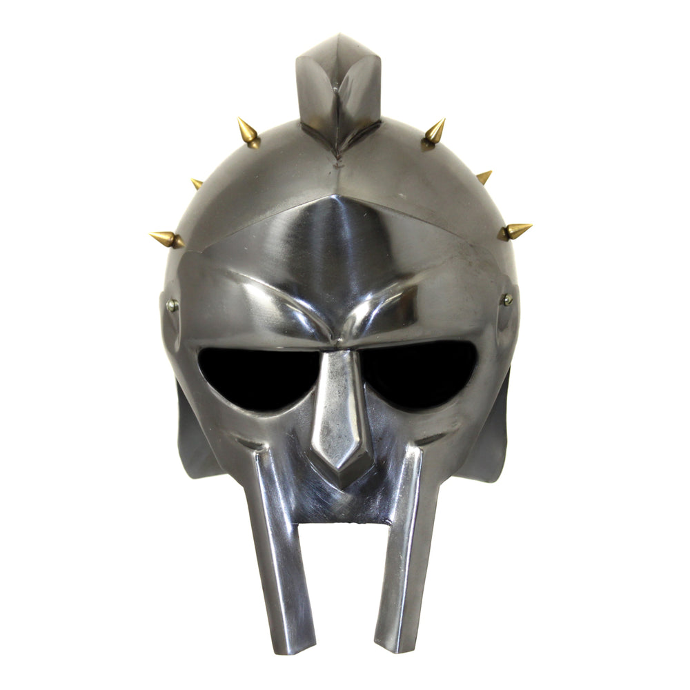 Urban Designs Antique Replica Full-Size Metal Roman Gladiator Armor Arena Spiked Helmet