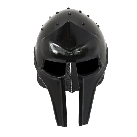 Urban Designs Antique Replica Full-Size Metal Gladiator Armor Arena Helmet - Black