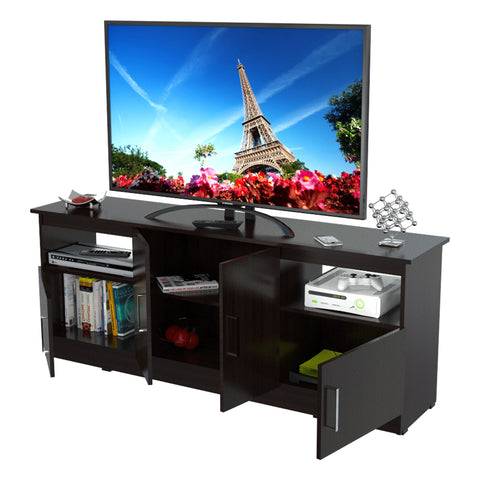 Inval Contemporary 60 inches Flat-Screen TV Stand - Espresso Wengue