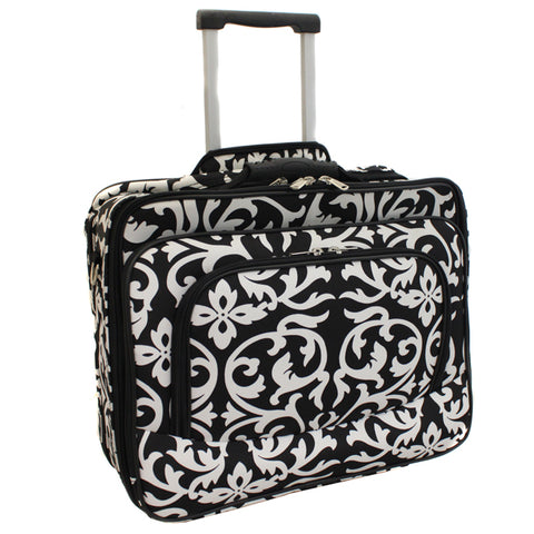 World Traveler Fashion Print Women's Rolling 17-inch Laptop Case