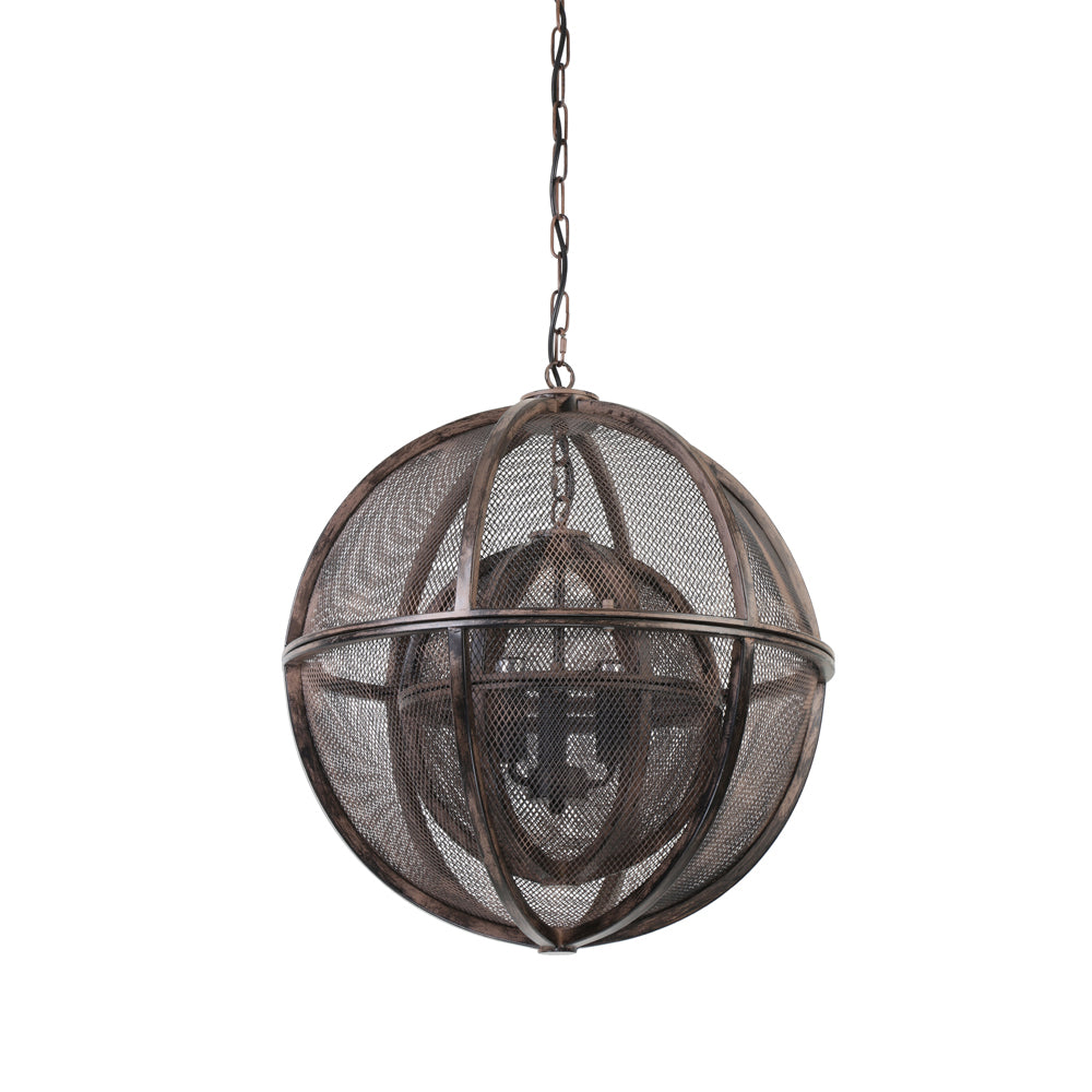 LightMakers 3024849 QUERIDA Hanging Lamp Sphere Double Rust