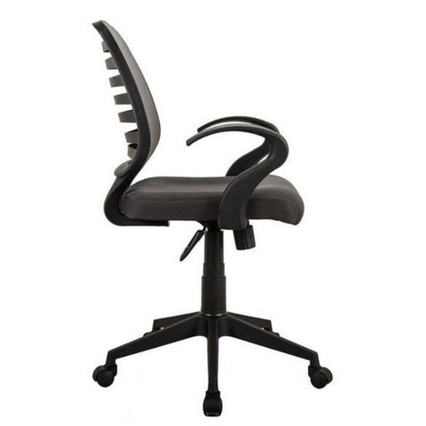 Urban Designs Comfy Rolling Mesh Task Chair with Arms and Wheels