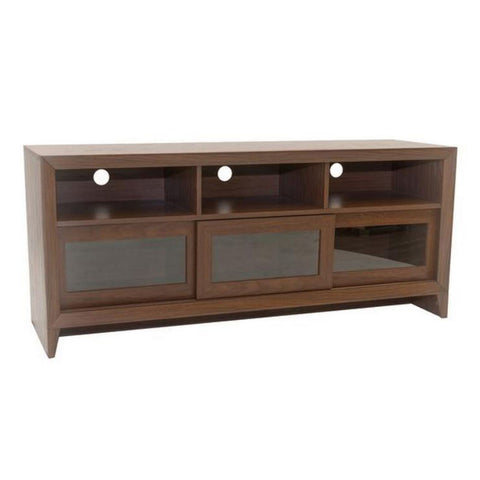 Urban Designs Modern TV Stand with Storage For TV Up To 60 - Hickory