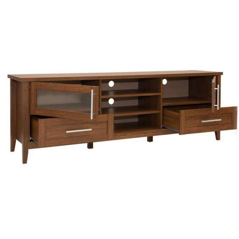 Urban Designs Modern TV Stand with Storage For TV Up To 75 - Oak