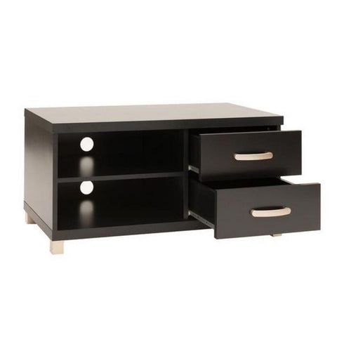 Urban Designs Modern TV Stand with Storage For TV Up To 40 - Black
