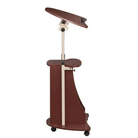 Urban Designs Sit-to-Stand Rolling Adjustable Laptop Cart With Storage - Chocolate