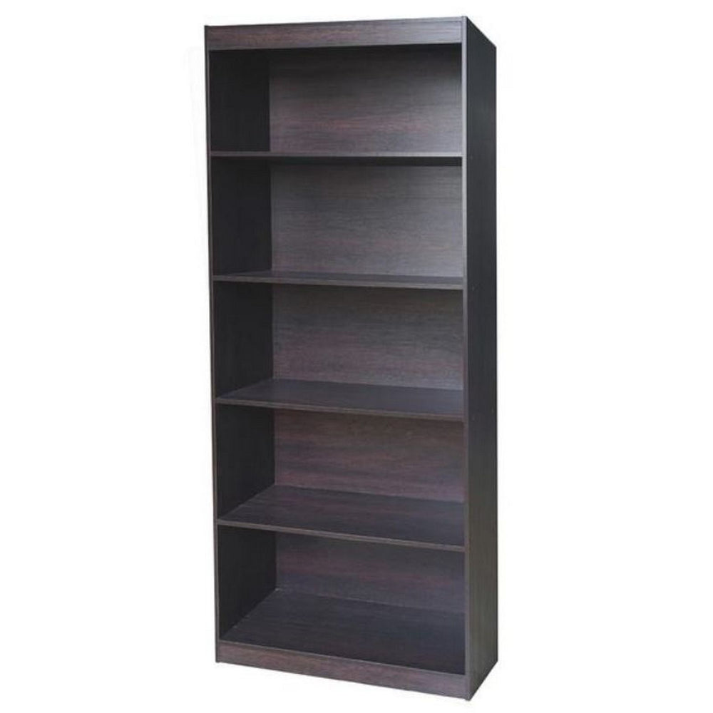 Urban Designs Home 5 Shelf Bookcase - Wenge