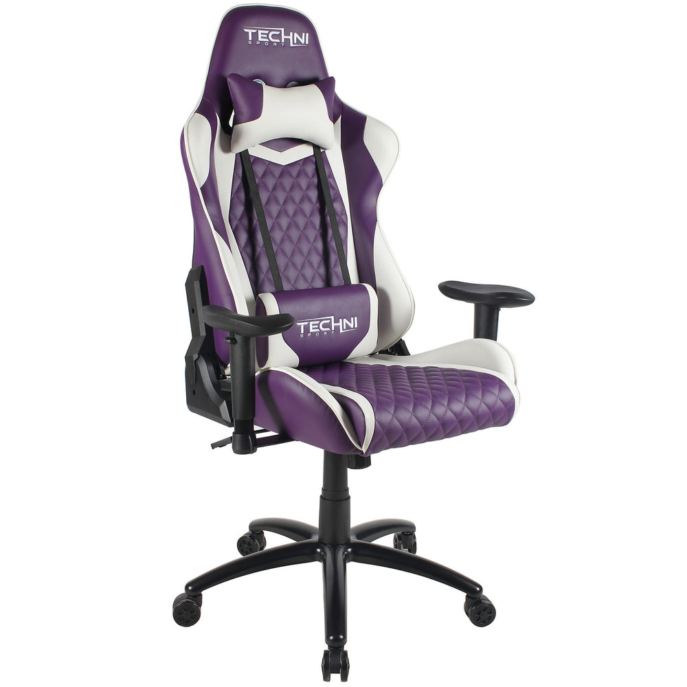 Techni Sport Home Office Racing Style PC Gaming Chair - Purple