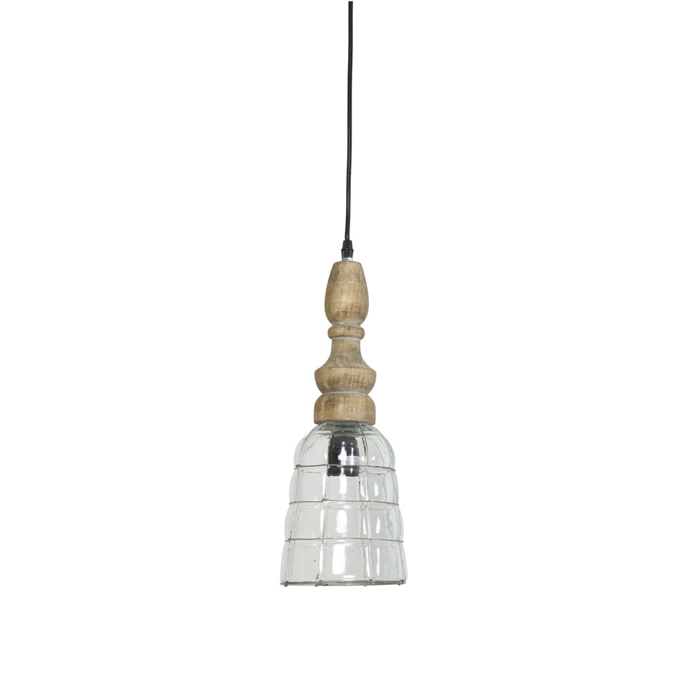 LightMakers 3051084 SACHA Hanging Lamp Glass Metal, Small