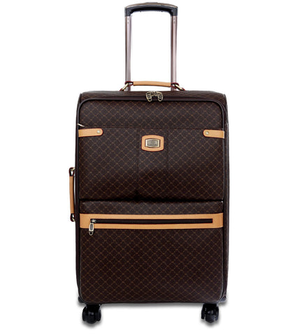 "Rioni Signature 21"" Upright Spinner Luggage Suitcase - Signature Brown"