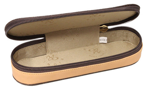 Rioni Signature Sunglasses Eyeglass Case - Brown