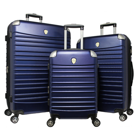World Traveler Expedition 3-piece Hardside Spinner Luggage Set