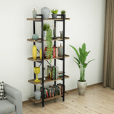 5-Shelf Industrial Bookcase Display