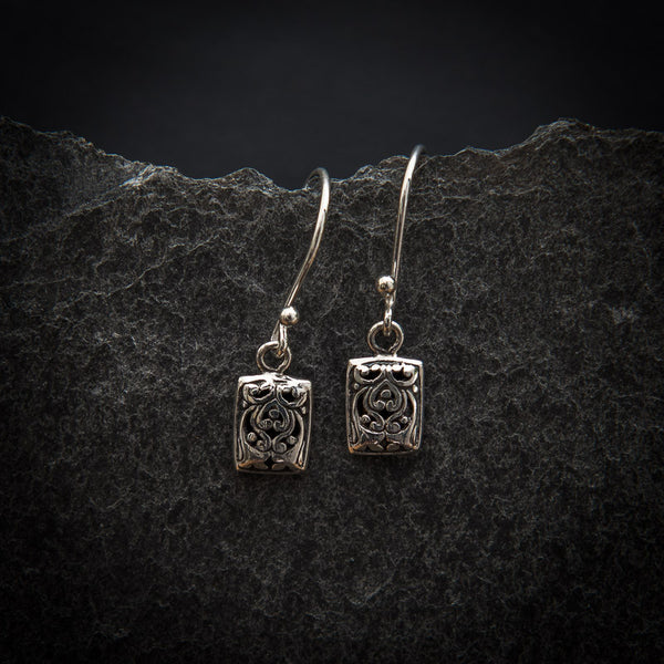 Sterling Silver Filigree Drop Earrings - Beyond Biasa