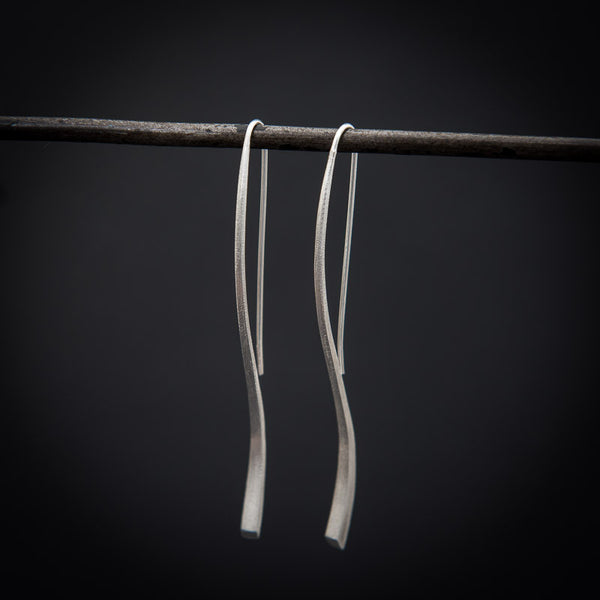 Sterling Silver 'Flick' Earrings - Beyond Biasa