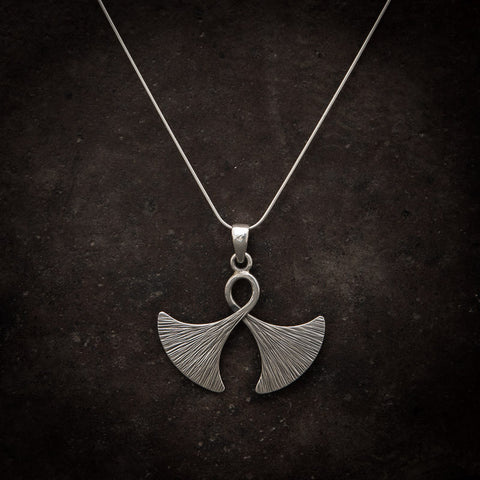 "Sterling Silver ""Double Axe"" Pendant and Chain - Beyond Biasa"