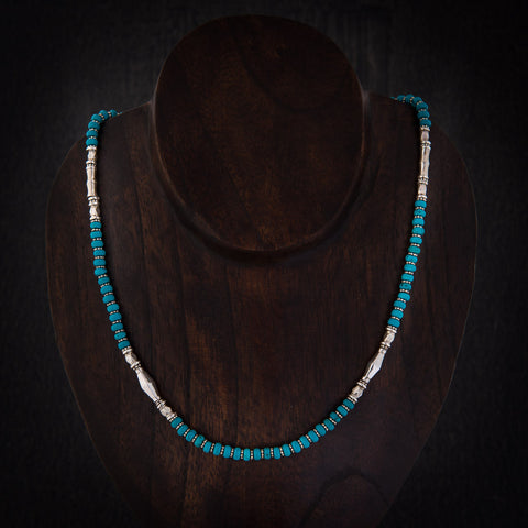 Turquoise and Sterling Silver Necklace - Beyond Biasa