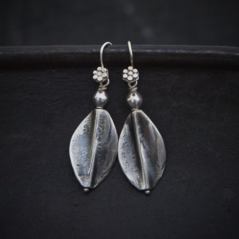 Sterling Silver Oval Twist Earrings - Beyond Biasa