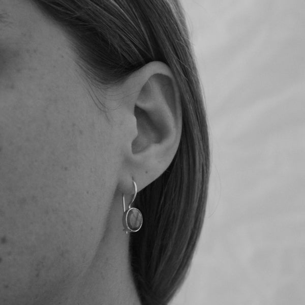 Faceted Amethsyt and Sterling Silver Drop Earrings