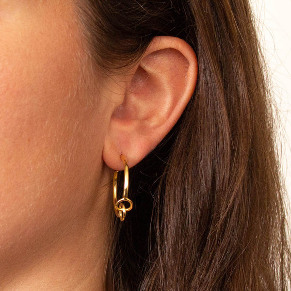 Gold Vermeil Infinity Hoop Earrings