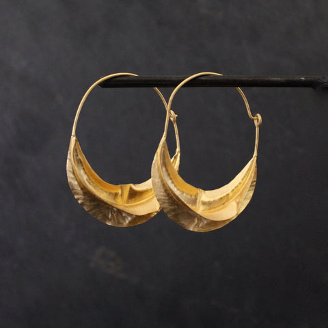 Gold Vermeil Twist Hoop Earrings