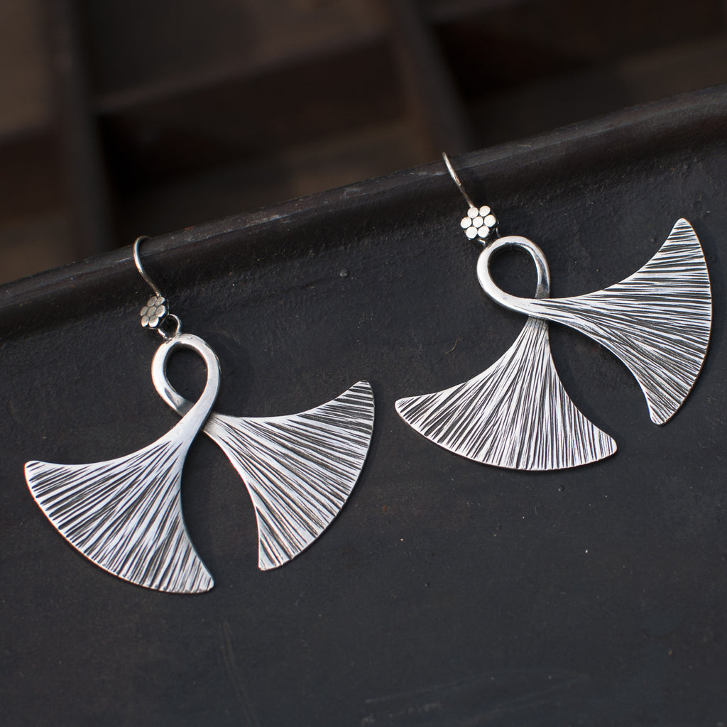 "Sterling Silver ""Double Axe"" Earrings - Beyond Biasa"