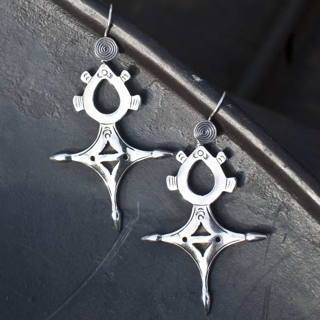 Sterling Silver 'Tuareg' Earrings - Beyond Biasa