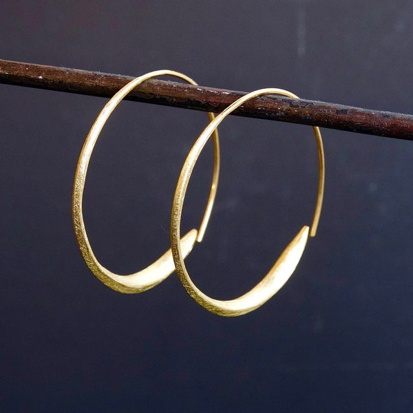 Gold Vermeil Wrap Over Hoop Earrings - Beyond Biasa